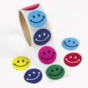 Round Smile Face Stickers