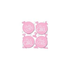 Baby Love Pink Confetti