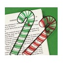 Green Plastic Candy Cane Ruler Bookmark