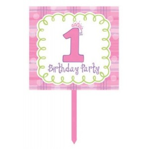 Celebrate 1 Girl Yard Sign