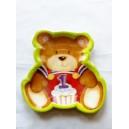 Teddy's 1st Birthday Dinner Plates